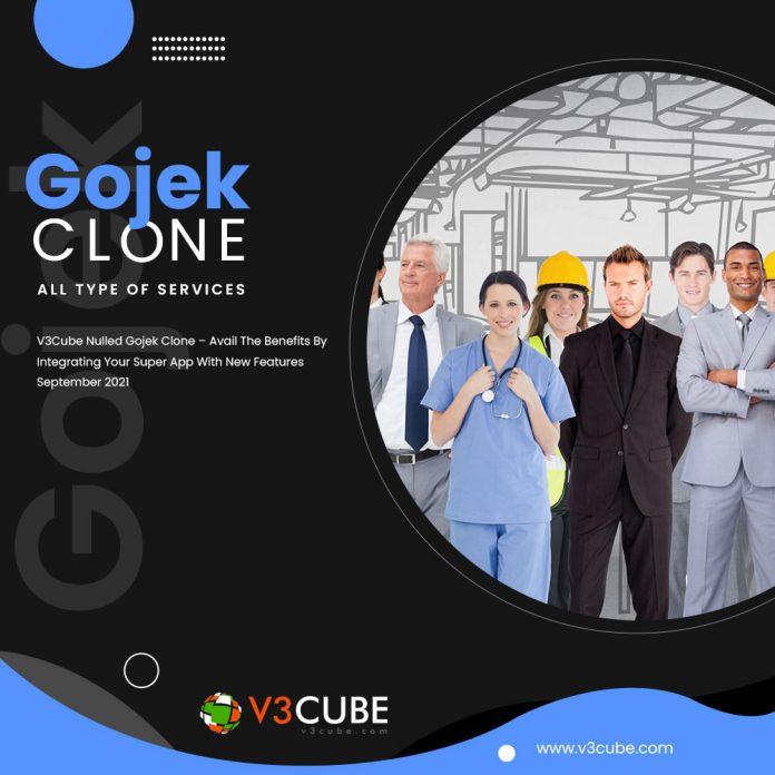 v3cube nulled gojek clone